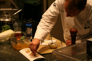 Nils plating the scallops.