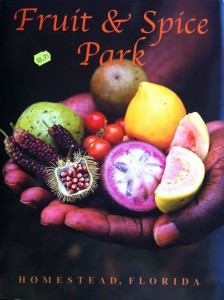 The guide book from the Fruit and Spice Park.