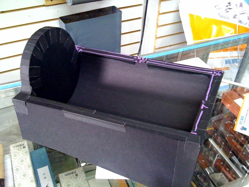 cardboard model of rotovap base