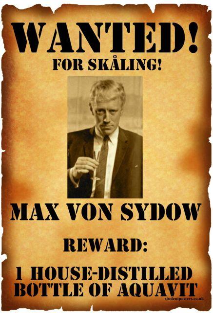 WANTED: Max von Sydown