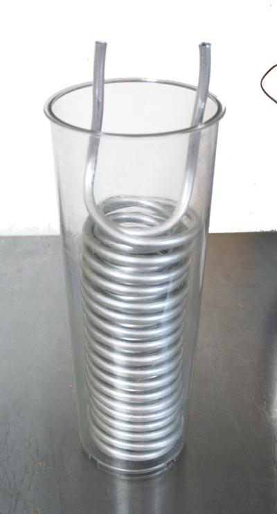 Aluminum condenser for my rotovap