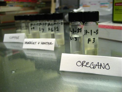 Coffee, Spearmint & Menthol oil, & Oregano oil separated into different flavor notes using Countercurrent Chromatography