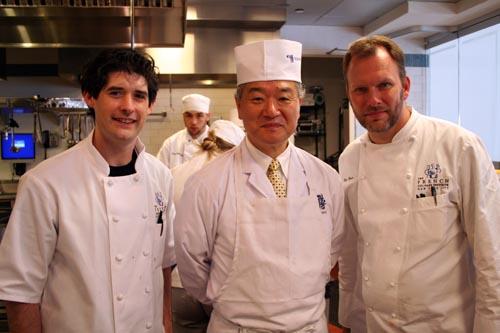 Dave, Chef Suzuki, and Nils