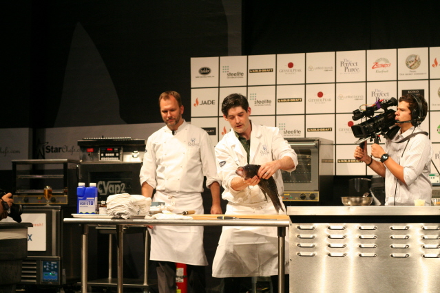 Dave, Nils and Fish at Star Chefs.